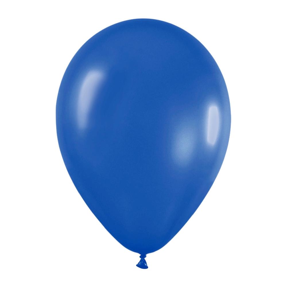 Pack de 50 globos azul metalizado