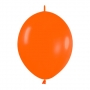 Pack de 50 Globos Link O Loon Naranjas 12 cm