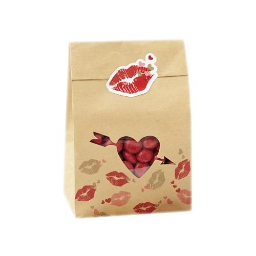 Pack de 6 bolsas para galletas y dulces San Valentín