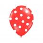 Pack de 6 Globos Rojos con Lunares Blancos 30 cm