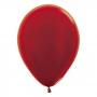Pack de 12 Globos Rojo Metalizado 30 cm