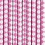 Pack de 10 Pajitas de Papel Rombos Rosas