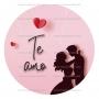 Papel de azúcar San Valentín Modelo Te amo 20 cm