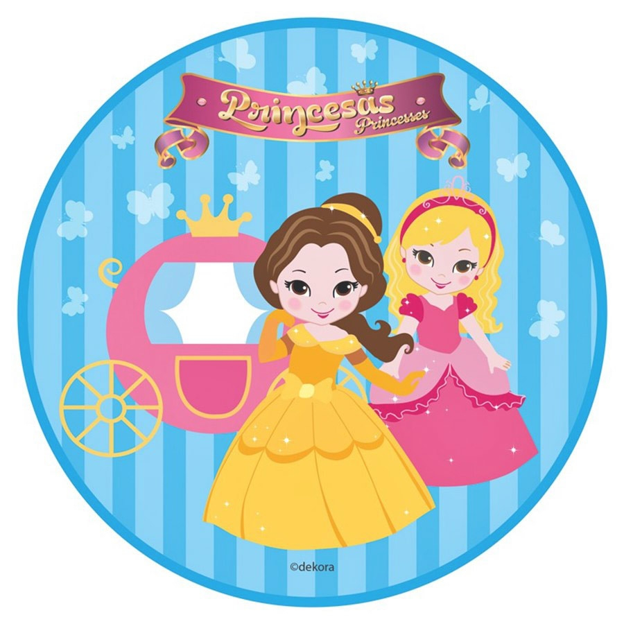 Papel de oblea Princesas Modelo B