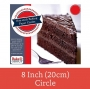 Papel para hornear precortado redondo 15cm (25 uds)