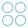 Pegatinas para bolsitas y tarros personalizables color turquesa