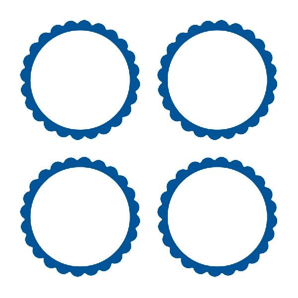 Pegatinas Personalizables Azul Marino