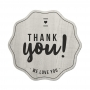 Kit de 20 Etiquetas de Vinilo Adhesivo Thank You