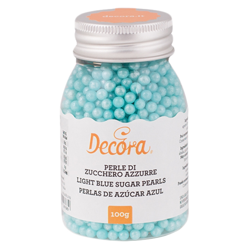 Perlas de Azúcar Azul Nacarado 4mm - My Karamelli