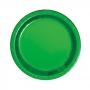 Platos de Papel Verde Metalizado 22 cm 8 ud