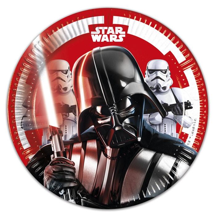 Platos Star Wars Batalla Final 20 cm