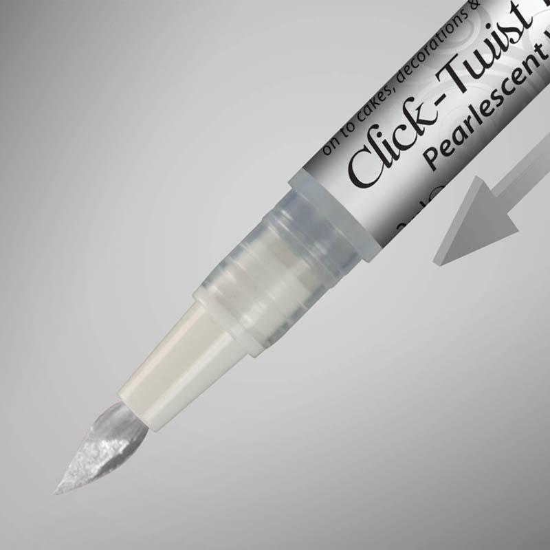 Pintura Comestible Pincel Click-twist Pearlescent white