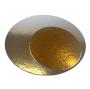 Base cartón para tarta plata/oro 26 cm