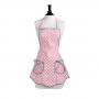 Delantal Geranium Pink & White polka dot