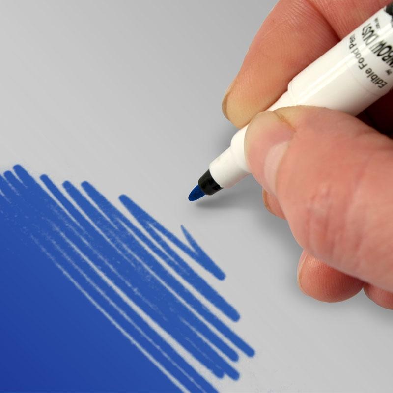 Rotulador comestible Doble punta Azul royal