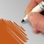Rotulador comestible doble punta color naranja