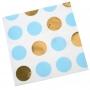 Servilletas Blancas con Lunares Azules y Dorados
