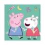 Juego de 20 Servilletas Peppa Pig y George