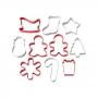 Set 10 Cortadores Galletas de Navidad Wilton