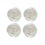 Set 10 Rosas de Azúcar Blanco Perlado 5 cm