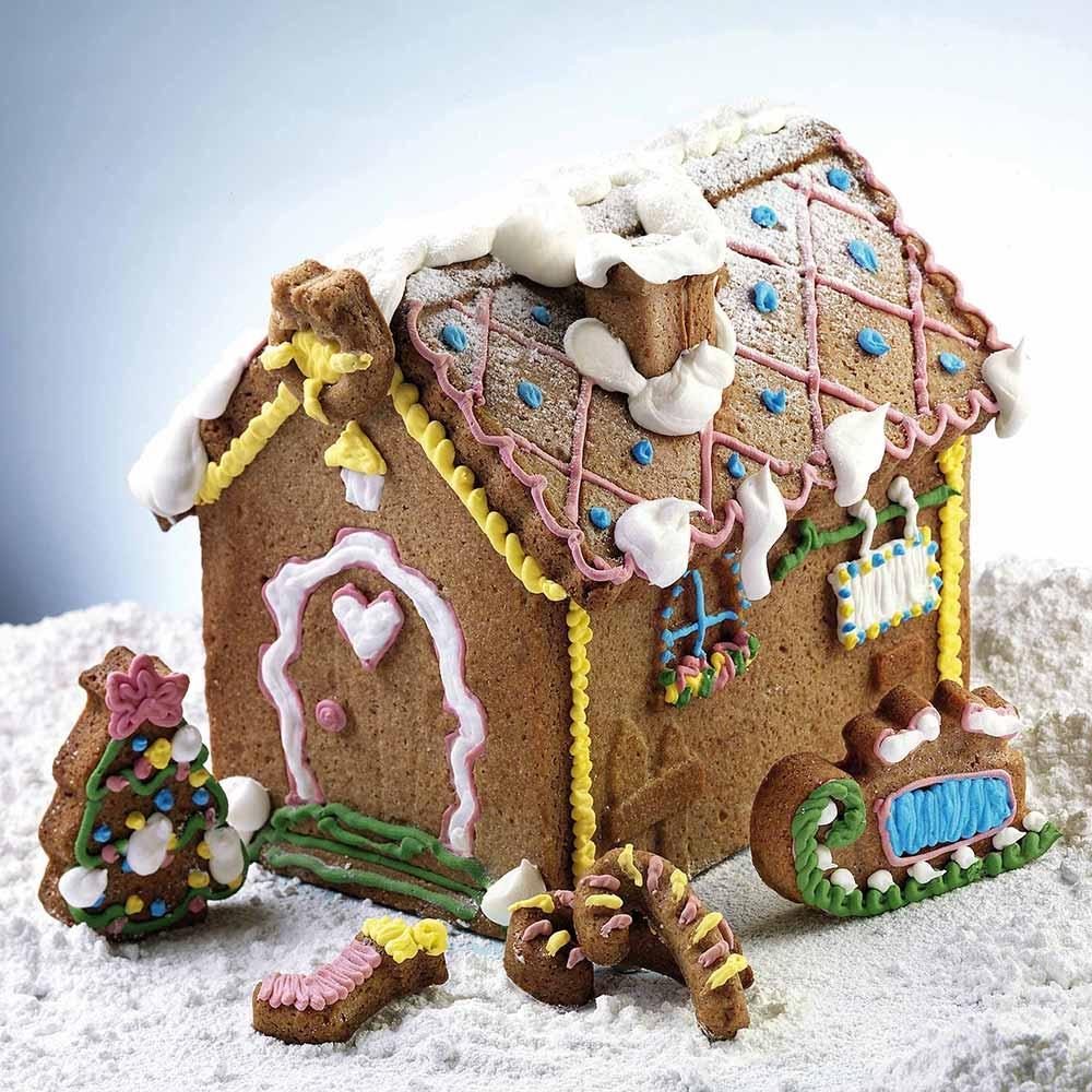 Set 2 Moldes de Silicona Gingerbread House
