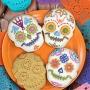 Set de 4 Cortadores con Texturizador Calavera Mexicana