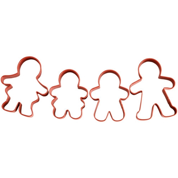 Set 4 cortadores Familia Gingerbread