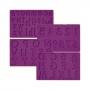 Set 4 moldes de silicona letras y números