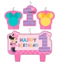 Set 4 Velas Minnie Mouse 1 año