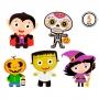 Set 5 Decoraciones Personajes Halloween