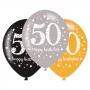 Set 6 globos 50 años