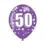 Set 6 Globos Multicolor 50 años