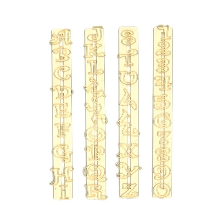 Set cortadores letras y números Chunky funky