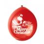 Set de 10 Globos Santa Claus 23cm