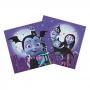 Set de 20 servilletas de papel de Vampirina de 33x33 cm