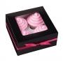 Set de 3 cajas para 4 cupcakes en color negro