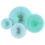 Set de 4 Abanicos Decorativos Aqua