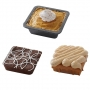 Set de 4 mini moldes cuadrados para tartas