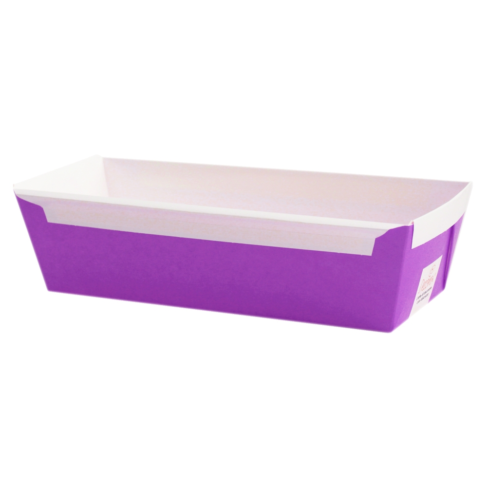 Set de 5 moldes de papel rectangular color violeta 26,5x10x7cm