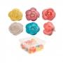 Set de 50 Flores de Oblea Efecto Aerógrafo 4 cm
