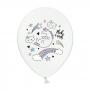 Set de 50 globos blancos de unicornio de 30 cm