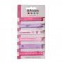 Set de 6 cintas de bebé rosa con 6 diseños diferentes de 1 metro