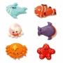 Set de 6 figuras de azúcar Animales Marinos