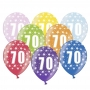 Set de 6 globos de látex de 70 cumpleaños de 30 cm de alto