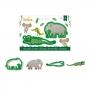 Set de dos cortadores de plástico de un elefante y un cocodrilo