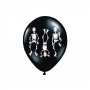 Set Globos Negros con Esqueletos