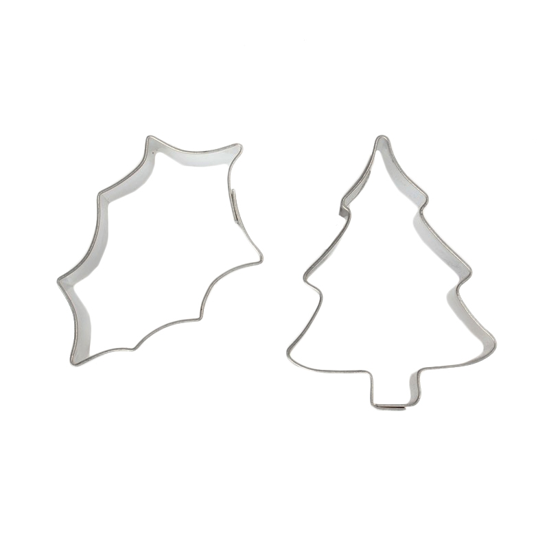 Set Mini Cortadores Holly & Tree
