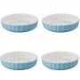 Set 4 Moldes de Cerámica Color Azul para Tartaletas 12,5 cm