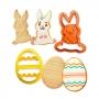 Set de 2 Cortadores Conejo y Huevo de Pascua