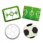 Set de 2 Cortadores con Texturizador Fútbol